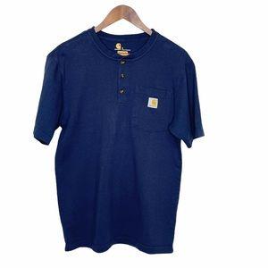 Carthartt Short Sleeve Shirt Blue Small